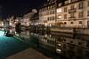 Bel espace détente! (unistra.otg) Tags: colombages eau nature nuit rue strasbourg grandest france fr
