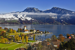 Spiez at day.15.11.17, 13:28:05.Canton of Berne, Switzerland. No. 1008 . (Izakigur) Tags: switzerland svizzera lasuisse lepetitprince thelittleprince ilpiccoloprincipe helvetia liberty izakigur flickr feel europe europa dieschweiz ch musictomyeyes nikkor nikon suiza suisse suisia schweiz suizo swiss سويسرا laventuresuisse myswitzerland landscape alps alpes alpen schwyz suïssa luz lumière light licht ضوء אור प्रकाश ライト lux światło свет ışık nikond810 spiez niederhorn topf25