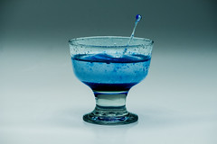 Blue Glass Liquid (OgniP) Tags: