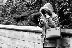 Day 361. Anon. (Rob Emes) Tags: handbag hood hoodie smoker smoking city urban london street black mono g7xii canon 3652017 365 dec2017