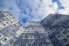 Living in the cloud (Jan van der Wolf) Tags: map16535ve clouds wolken gevel gebouw utrecht uithof facade blue blauw building architecture architectuur johanna perspective perspectief pov lowpov
