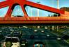 autopista  en pleno (ojoadicto) Tags: autos cars highway autopista puente carriles traffic trafico sunset verano artisticphotography