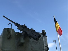 M4A3 Sherman Tank and Belgian flag