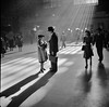 Grand Central Terminal, New York City. October 1941. (polkbritton) Tags: johncollier fsaowi libraryofcongress newyorkcity grandcentralterminal traintravel 1940s