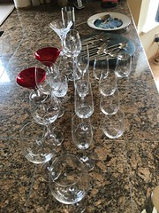 """Life is Too Short / Use the Good Glasses (Jill Clardy) Tags: kitchen glasses wine champagne cocktail 3652018 dinner party crystal fancy """"good glasses"""" 365the2018edition day1365 01jan18"""