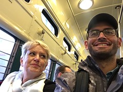 My mom is a railfan in training (Steven Vance) Tags: sanfrancisco california trip travel transit streetcar selfie