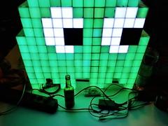 #34c3 Green Blinky (Yves Sorge) Tags: 34c3 pixel monster green grün tuwat pixelmonster blinky ghost pacman hackerculture