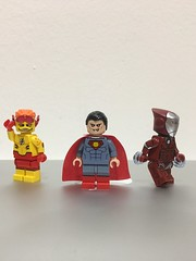 Starting the new year off right! (juanrg9009) Tags: bloodleague marvel dc ironman rescuearmor pepperpotts kidflash superman minifigs minifigure custom lego
