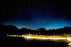 Starry mountain roads (ncax1x) Tags: shanstate minoltamdceltic28mmf28 sonya7 longexposure lighttrails starrynight mountainroads myanmar burma kalaw astrophotography