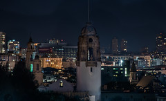 mission dolores basilica built in 1776 (pbo31) Tags: bayarea california nikon d810 color december 2017 boury pbo31 sanfrancisco city urban dark night black missiondolores basilica built 1776 church historic dolorespark doloresheights skyline tower over