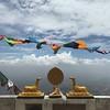 Prayer Flags atop Temple