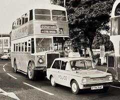 Traffic jam bonus (Lost-Albion) Tags: tynewearpte newcastle leyland lvk116 hillmanimp ltn314f policecar charlesdean 1970