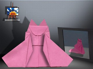 Origami Japanese Cat Doll