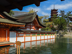 Itsukushima Shrine. Miyajima (sklachkov) Tags: miyajima water fall japan architecture itsukushima