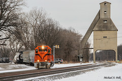 CSS 2004 @ Michigan City, IN (Michael Polk) Tags: chicago south shore bend railroad emd gp382 2004 amtrak michigan line central coaling tower trail creek swing bridge nipsco generating plant mc freight train