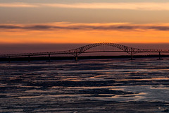 Lastnight onboard (langdon10) Tags: bridge canada canon70d ice quebec shoreline stlawrenceriver troisriviere cold outdoors winter