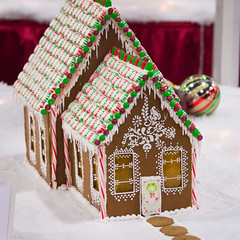 home sweet home (raspberrytart) Tags: festivaloftrees christmas gingerbread gingerbreadhouse gingerbreadcookie cookie candy decorating nikon d7100