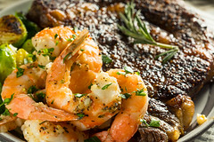 Gourmet Homemade Steak and Shrimp (brent.hofacker) Tags: barbecue beef charbroiled cooked cooking delicious dinner fillet fish food garlic gourmet grill grilled herbs juicy meal meat medium mignon pepper plate prawn prawns rare restaurant ribeye rosemary seafood seared shellfish shrimp shrimpandsteak sirloin steak steakandshrimp surf surfandturf tenderloin turf vegetable