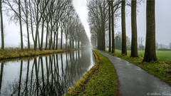 Echappée au bord de l'eau (musette thierry) Tags: musette water thierry eau lespierres canal belgique brouillard new day hainaut leers etaimpuis