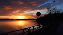 2017 Bike 180: Day 287, December 22 (olmofin) Tags: 2017bike180 finland bicycle sunset kuusisaari munkkiniemi polkupyörä auringonlasku lumix 20mm f17 hesinki bridge silta