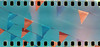 Cross processed car wash (No Stone Unturned Photography) Tags: flags cross processed slide film kodak ektachrome expired folding pocket no 3 1600 camera 35mm 122 modified sprocketholes grain lightleaks
