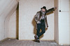Pip the Gentleman (Roj) Tags: originalphotographers urbex brickwall sourcerojsmithtumblrcom pipthegentleman jeans turnups leaning fauxfurcoat dms furcoat sallehsparrowworkshop malemodel canon5dmkiv photographersontumblr beard