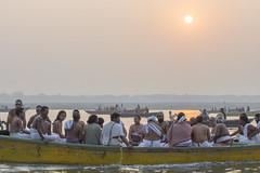 Pilgrims (Tim Brown's Pictures) Tags: india varanasi benares ganges river gangesriver religion hindu hinduism pilgrims travel color people boats uttarpradesh ganga