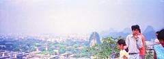 Halina Panorama - Jessops 200 (15) (meniscuslens) Tags: guilin china sky city people mountain