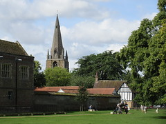 St. Mary's Church spire and Oliver Cromwell's House, Palace Green, Ely, Cambridgeshire (Paul McClure DC) Tags: ely cambridgeshire england britain isleofely eastanglia aug2017 church architecture historic