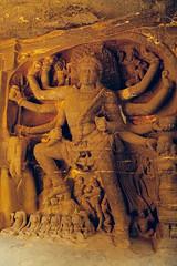 Hindu Goddess Durga (kaushikImagines) Tags: goddess durga stone carved ellora kailasha temple ancient hindu historical india