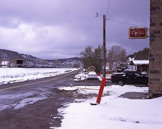 Biz cars and spring snow