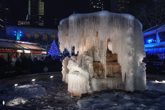 Ice Ice Baby! (Gary Burke.) Tags: ice frozen cold freezing bryantpark manhattan nyc ny midtown eastside newyorkcity newyork park klingon65 garyburke shopping christmasvillage holidayshopping gothamist christmas holiday winter longexposure fountain water decoration holidaydisplay xmas city nycdetails iloveny nycchristmas nychristmas ilovenewyork nyctravel tourism christmasinnewyork seasonal merrychristmas christmas2017 buildings holidaylights travel ilovenyc newyorklife citylife cityliving iheartnewyork urban urbanphotography nightphotography christmasphotography architecture cityscape holidaymarket skyscrapers skyline lights christmaslights christmasshopping decorations colorful night evening touristattraction sony a6300 mirrorless sonya6300 december traveling wanderlust nycpark freeze weather