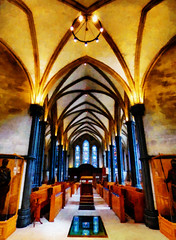 Built by the Knights Templar (Steve Taylor (Photography)) Tags: churchofengland church knightstemplar templechurch knight armour chandelier stainedglass art architecture digital uk gb england greatbritain pew unitedkingdom london reflection window