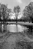 Some paths can´t be discovered without getting wet ... (mona_dee) Tags: park kiel rain puddle end