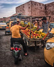 Amarillo / Yellow (EXPLORE Jan 3, 2018 #22) (jfraile (OFF/ON slowly)) Tags: streetphotography color amarillo yellow market mercado muralla wall people marrakech jfraile javierfraile