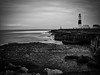 Eleanor's last hurrah. (awphoto3) Tags: blackandwhite monochrome seascape lighthouse phare storm hdr