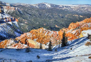 Looking down into the Cedar Breaks National Monument Amphitheater, Utah