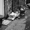 Negative No: 1966-2802 - Negatives Book Entry: 01-16-1966_Highways_Rear of Lower Moseley Street_Tipping Rubbish in Passages (archivesplus) Tags: manchester england 1960s townhallphotographerscollection dustbin carton