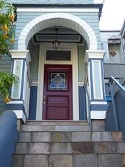 San Francisco, CA, Noe Valley, Victorian House Entrance (Mary Warren 10.5+ Million Views) Tags: sanfranciscoca noevalley house residence victorian entrance door doorway portal blue architecture building arch