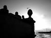 Sunset at Ponte 25 de Abril (Klaus Wessel) Tags: olympus lissabon omd em10 19mm sigma mft 25april brücke tejo portugal sonnenuntergang schattenriss