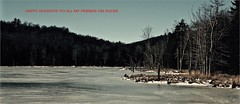 Happy Holidays 2017 (Professor Bop) Tags: soltice winter ice bleak wilmingtonvermont vt southernvermont professorbop drjazz holidays greetings peace olympusem1 nature woods trees december212017 happyholidays