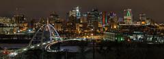 Edmonton at Night [Explored] (WherezJeff) Tags: 2017 9frames alberta canada edmonton night walterdalebridge yeg cityscape lightpollution pano panoramic skyline d850 arch dialog