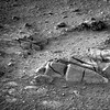 Cracked and Eroded (sjrankin) Tags: 25december2017 edited nasa mars grayscale opportunity band2 rocks cracked sand endeavourcrater 1p567371784effd0ijp2374r2m1