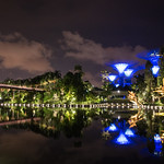 Gardens by the bay at night Singapur, Nachtaufnahme thumbnail