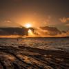 Sunset over Elgol, Isle of Skye (mandyhedley) Tags: elgol sunset rocks clouds landscape water sun square waves blue orange sunrays explored ~flickt
