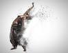 Dance Explode (neal1973) Tags: dancer dancing dance bellydancer bellydance woman female photoshop particle studio portrait