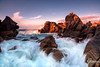 Capo Testa stormy  sunset (whitenoisephotography1) Tags: seascape sardinia sardegna capo testa valle della luna waves long exposure rocks sunset stormy windy gale nature landscape