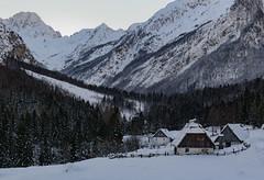 Trenta (happy.apple) Tags: slovenia slovenija julijskealpe julianalps alps mountains trenta valley zadnjatrenta winter snow sneg zima evening