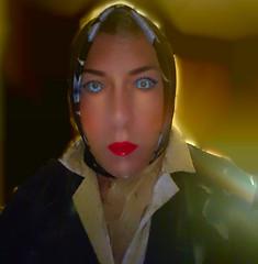 Image1 (Tonya Chiffon.) Tags: headscarf scarf satin facescarf sheer chiffon blouse nightdress lipstick makeup mascara