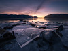NEW DAWN, NEW YEAR (pidalaphoto) Tags: sunrise hudsonhighlands ice plumpointpark winter river frozen water mountains newyork kowaweseuniqueareaatplumpoint hudsonriver cold newwindsorny hudsonvalley